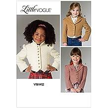 Vogue Patterns V9142 Children's/Girls' Jacket, Size CCE (3-4-5-6)