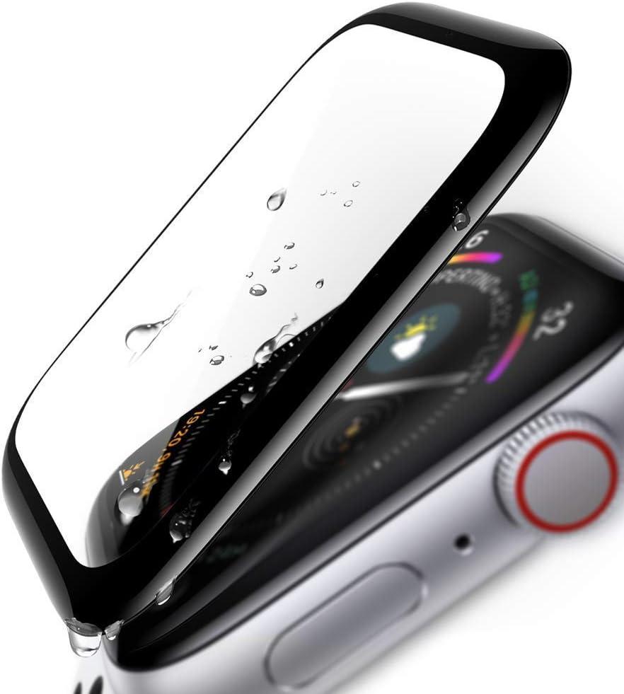 Domxteck Compatible con Apple Watch Series 3/2 38mm Protector de Pantalla, Protector de Pantalla de Vidrio 3D para iwatch 3/2 38mm [Pantalla Completa] [Borde Curvo]-1 PCS