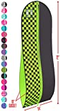 "Gusseted Gown Garment Bag for Women's Prom and Bridal Wedding Dresses - Travel Folding Loop, ID Window-72"" x 24"" with 10"" Tapered Gusset - Black and Lime Green Checkered - by Your Bags"