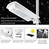 Solar Street Light Outdoor, LED Solar Lamp Waterproof Security Dimmable Induction Night Light for Wallway Yard Garden Driveway Stairs Barn Street Outdoor Indoor Area