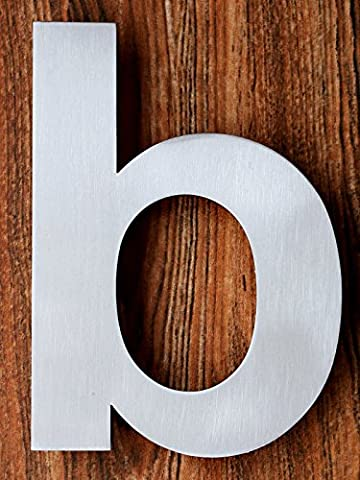 Modern House Number - 6 Inch, Brushed