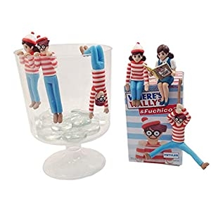 """Kitan Club """"Fuchico on the Cup and Were's Waldo"""" Collectible Figure Mystery Blind Box - 1 Random Piece"""