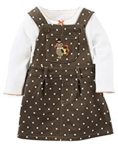 Amazon Com Carters Baby Girls Thanksgiving 2 Piece Jumper