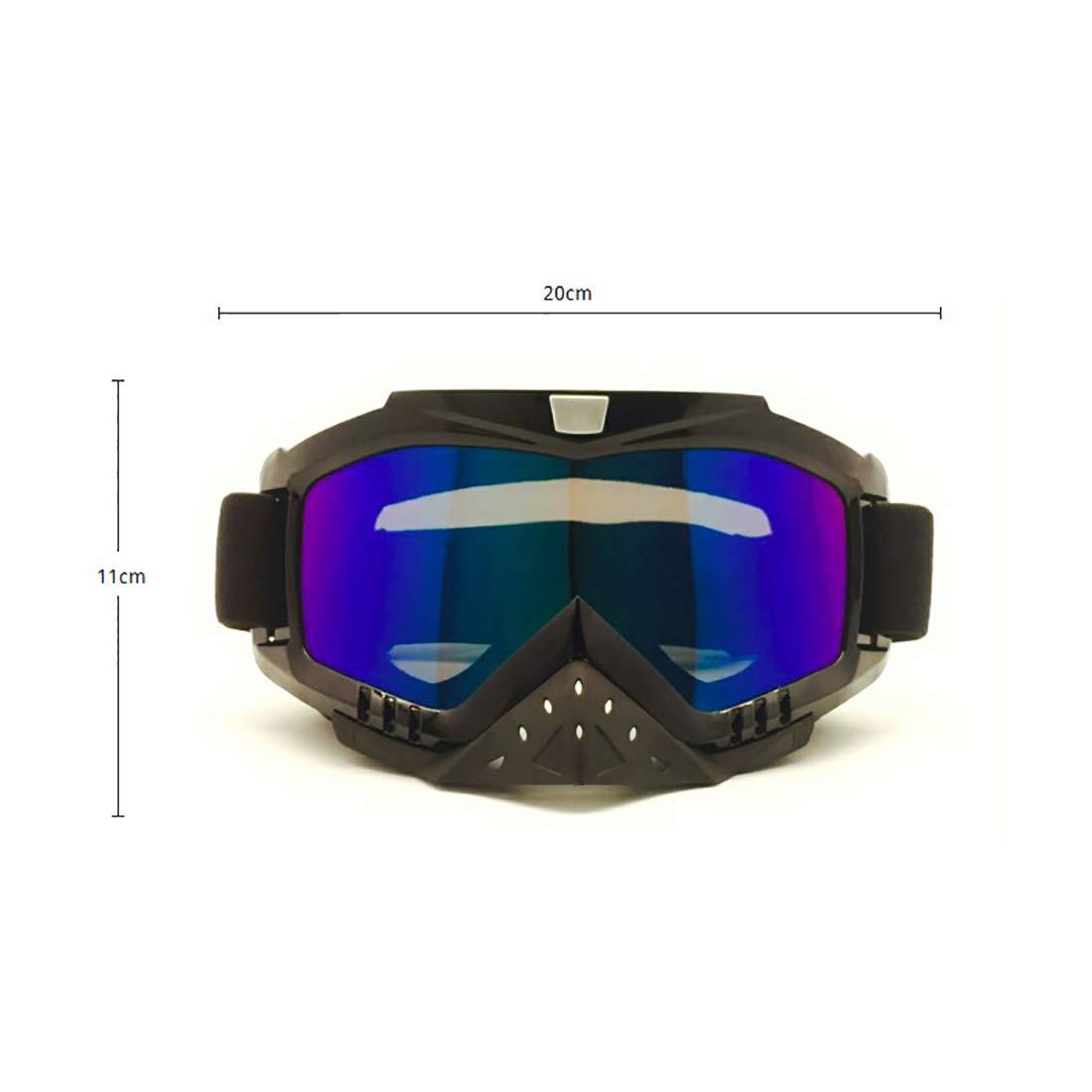 bd2ef18b82 LBWNB Gafas de Moto-Gafas de Motocross para Casco Niebla a Prueba de Viento  Montar Bicicleta protección UV Gafas de Sol máscara para ATV Off Road  Racing ...