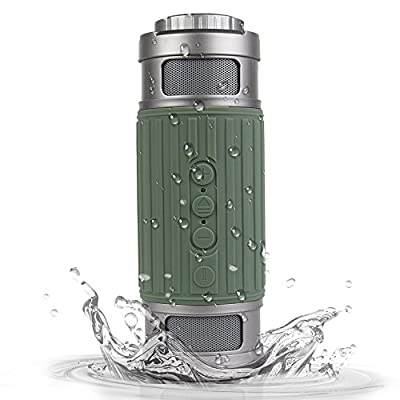 Korjo Best Shower Radio Loudspeaker IPX5 Waterproof with Flashlight Support Microphone, TF Card, Indoor Outdoor Portable Wireless Speakers for Computer, Car audio and Camping by swomall