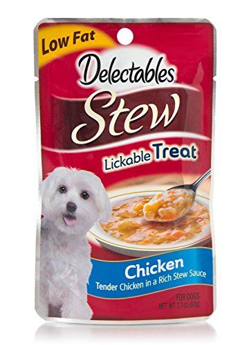 Delectables Stew Lickable Treat for Dogs Chicken (4-Pack) (NET WT 2.1 OZ Each)