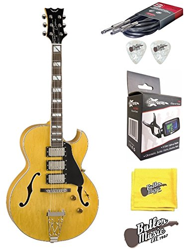 Dean Palomino Trifecta un Jazz estilo guitarra eléctrica w/afinador de clip y más: Amazon.es: Instrumentos musicales