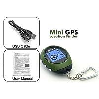 Gaddrt mini Key Finder, ricevitore GPS Tracker + cercatore portachiavi USB, ricaricabile, per campeggio e sport outdoor