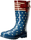 Western Chief Women's Printed Tall Rain Boot, Flag Top Pop, 9 M US