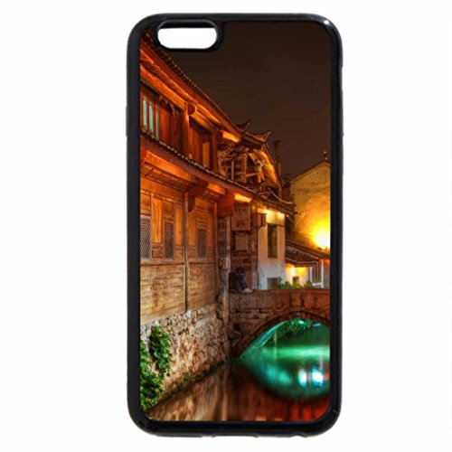 iPhone 6S / iPhone 6 Case (Black) the canals of lijiang at night hdr