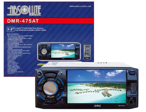 Absolute USA DMR-475AT 4.8-Inch DVD/MP3/CD Multimedia Player Widescreen Receiver with USB, SD Card, Built-in Analog TV Tuner by Absolute