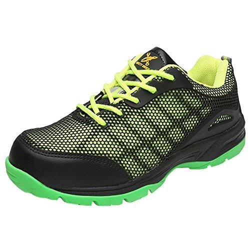 Eclimb Hombres Protect Steel Toe Zapato De Trabajo Verde