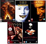 The Hannibal Lecter DVD Movie Collection : Red Dragon / The Silence of the Lambs / Hannibal / Hannibal Rising : Fear Begins / Manhunter + Special Features + Director's Cut + Deleted Scenes + Extras