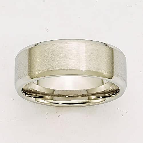 Jewelry Best Seller Cobalt Beveled Edge Satin and Polished 8mm Band