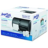 Compact Side-by-Side Toilet Paper Dispenser Starter Kit by GP Pro (Georgia-Pacific), 5679500, 1 Double Roll Dispenser (56784) & 4 Angel Soft Compact Toilet Paper Rolls, (19371)