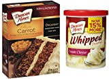 Duncan Hines Carrot Cake Mix Set with Duncan Hines Cream Cheese Frosting - All You Need To Bake and Decorate A Moist Carrot Cake