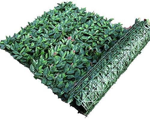 人工的な植物の壁、人工的な生垣、リフォーム用/バルコニー/柵/庭用50 * 50 cm