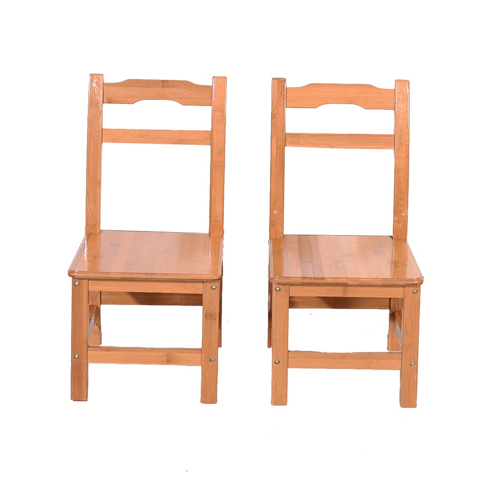 Azadx Bamboo Table and 2 Chairs Set - Kid's Furniture for Playing Reading Drawing Writing Eating Wood Color by Azadx (Image #6)
