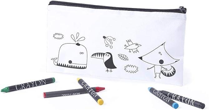 Siglo XXI 10 x Estuche con diseño para Colorear con 5 Ceras: Amazon.es: Juguetes y juegos