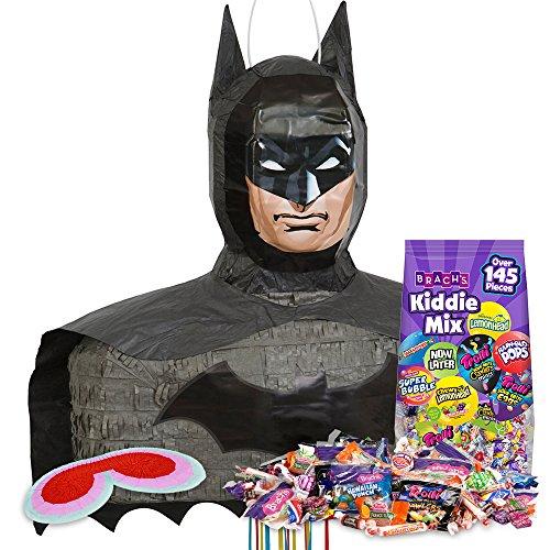 [Batman 3D Pinata Kit] (Pinata And Bat Costume)