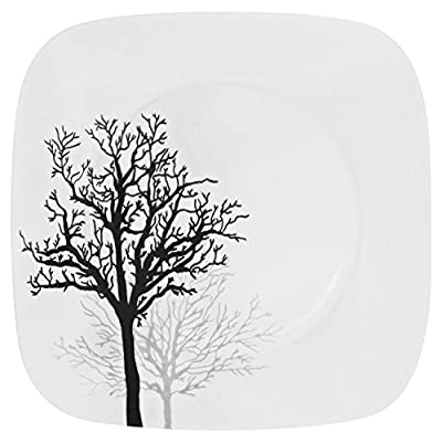 Corelle Square 32-Piece Dinnerware Set, Timber Shadows, Service for 8