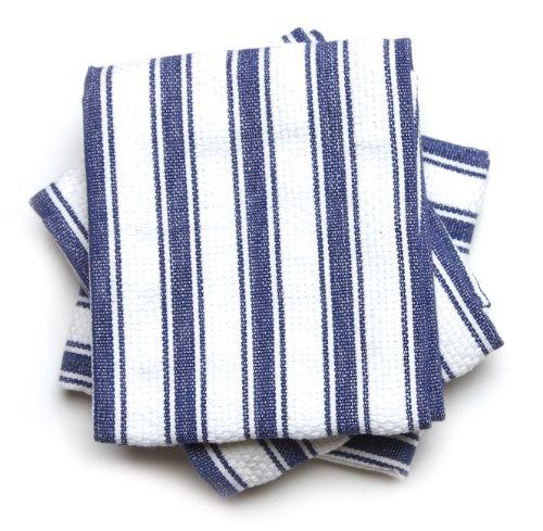 Mahogany Basket Weave Kitchen Towels with Color Stripes , Se