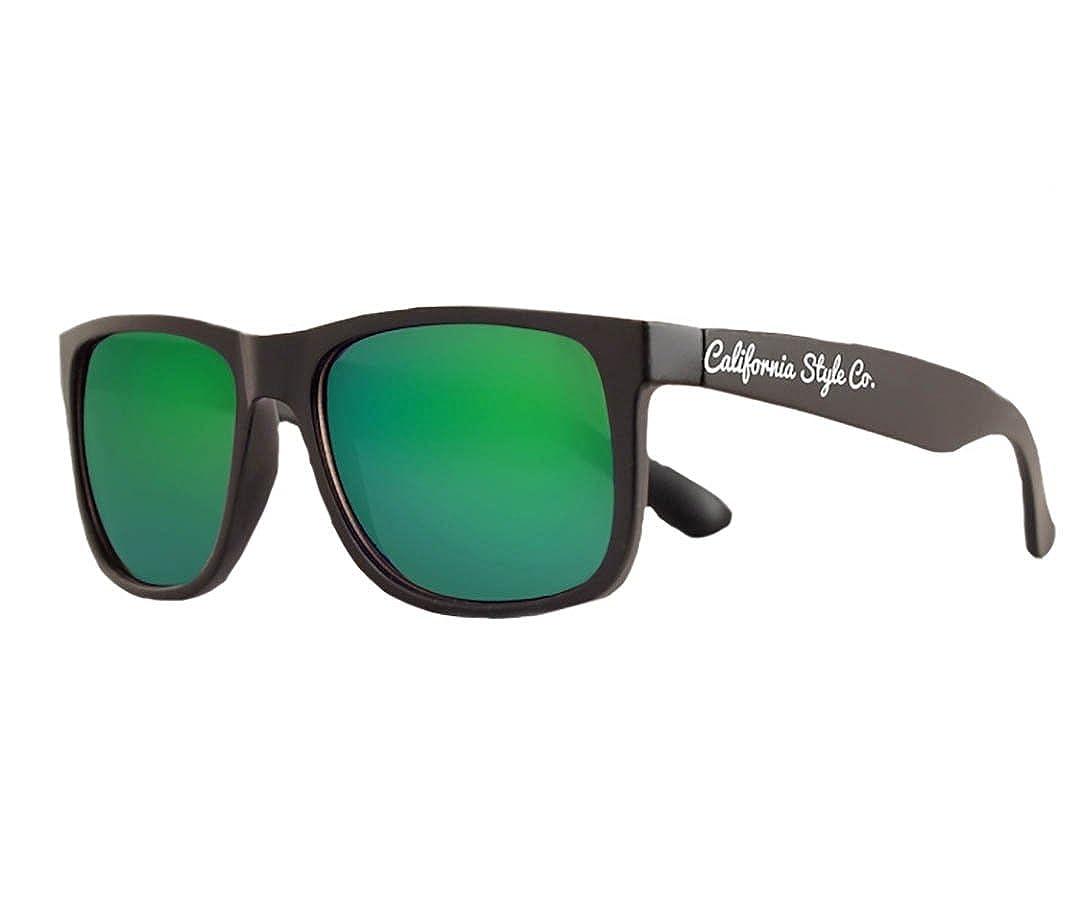 Gafas de sol California Style Co Classic Verde Espejada ...