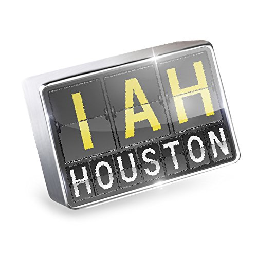 Floating Charm IAH Airport Code for Houston Fits Glass Lockets, - Airport Iah Shops