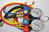 Kyпить 4-Way Manifold Gauge Set with 4 Hoses, Red Blue, Yellow and Vacuum Black hose. for R410a R22 R404a and the Other retrofit Replacement Refrigerants Forged Aluminum Body Frame на Amazon.com