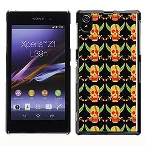 iKiki-Tech Estuche rígido para Sony Xperia Z1 L39H - Yellow Skull