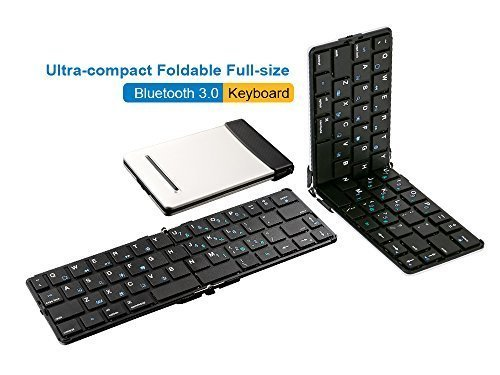Ultra-Compact Foldable Wireless Bluetooth Full Standard Keyboard For Smartphones And Tablets
