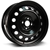 hyundai accent wheel center cap - Steel Rim 16X6.5, 4X100, 56.6, +42, black finish (MULTI APPLICATION FITMENT) X99149N