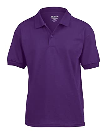 7da2595aa Amazon.com: Gildan Kids DryBlend Jersey Short Sleeve Polo Shirt ...