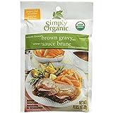 Simply Organic Brown Gravy Seasoning Mix , 28g (Pack of 6)
