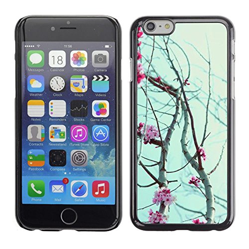 Caoutchouc Hard Case Shell Housse de protection Accessoire BY RAYDREAMMM - Apple iPhone 6 - Flowers Petals Blooming Tree Cherry