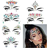 Kyпить COKOHAPPY 6 Sets Rhinestone Mermaid Face Jewels Tattoo - BODY STICKERS Crystal Tears Gem Stones Bindi Temporary Stickers (Collection 1) на Amazon.com