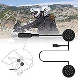VR-robot Wireless Motorcycle Helmet Headset Work with Bluetooth, Motorcycle Intercom Headset, Wireless Helmet Heaphones, Wireless Helmet Communication Systems For Motor Motorbike, Motor Helmet Headset