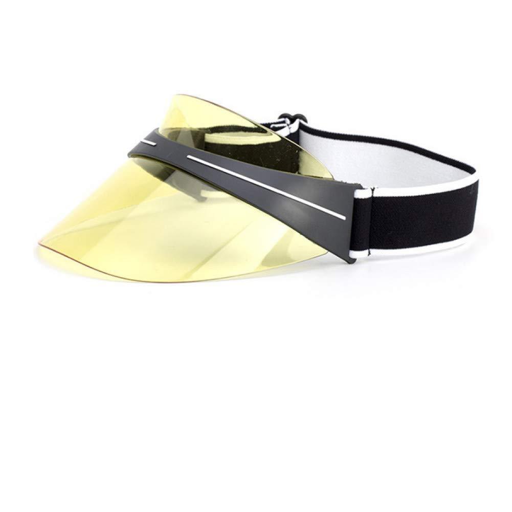 YELLOW CGXBZA Summer Unisex Women Men Sun Hat Ultrapurple Light Resistant Transparent Top PVC Sunshade Hat Visor Caps Bicycle Sunhat