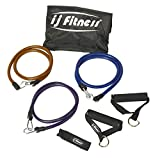 Premium Heavy Duty Workout Body Resistance Exercise Bands Set by IJ Fitness