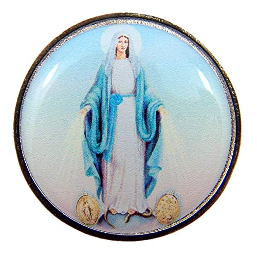 Religious Miraculous Medal Pocket Token with Prayer Back, 1 1/4 Inch