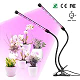 Grow Light, YUNLIGHTS 18W Plants Light with Timer, Auto Turn On, 5 Levels Brightness, 360 Degree Adjustable for Indoor Plants, Succulents, Hydroponics, Greenhouse, Garden,Office, Dual Head