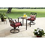Better Homes and Gardens Carter Hills 3-Piece Outdoor Bistro Set, Seats 2 (Maroon)