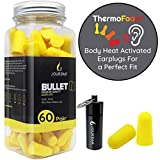 Ear Plugs for Sleeping Block Out Snoring w/ Premium Thermo Foam Noise Reduction and Cancelling Earplugs for Shooting Range Sleep Loud Events Construction Work Study by Jourdak New NRR /SNR 36db 60Pair
