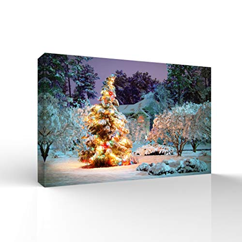 wall26 Canvas Wall Art Merry Christmas Pictures Home Wall Decorations for Bedroom Living Room Paintings Canvas Prints Framed - 24x36 inches