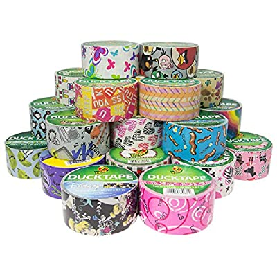 25 Rolls Bulk Lot Colored Assorted Duck Duct Tape Pack Print Patterns DIY Arts Craft Projects 250yds Crafting Hobby For Kids