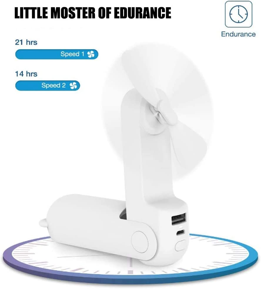3 Speeds Personal Hanging Lazy Hands Free USB Fans Rechargeable 360/° Free Rotation for Ourdoor Office Sport 7Color LED Light Aromatherapy Portable Mini Neckband Fan White, Version-3