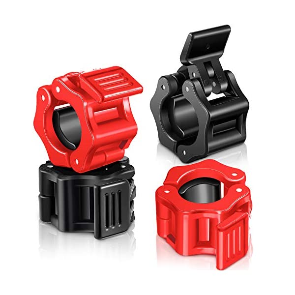 4-Pieces-1-Inch-Barbell-Clamps-Non-Slip-Fast-Release-Barbell-Collar-Clips-Locking-Plates-Collar-Clips-for-Workout-Weightlifting-Fitness-Training-Supplies-Black-Red