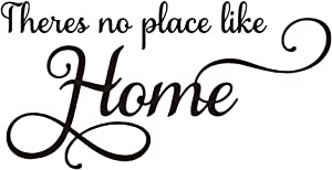 ZSSZ There's no Place Like Home Vinyl Wall Decal Family Love Quotes Wall Sticker for Home Decor