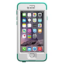 LifeProof Nuud Waterproof Case for iPhone 6, Standard Packaging, Riptide Teal(White/Teal)