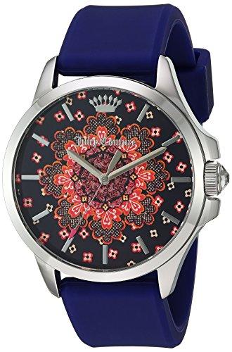 Juicy Couture Women's 'Jetsetter' Quartz Stainless Steel and Silicone Quartz Watch, Color:Purple (Model: 1901482) ()